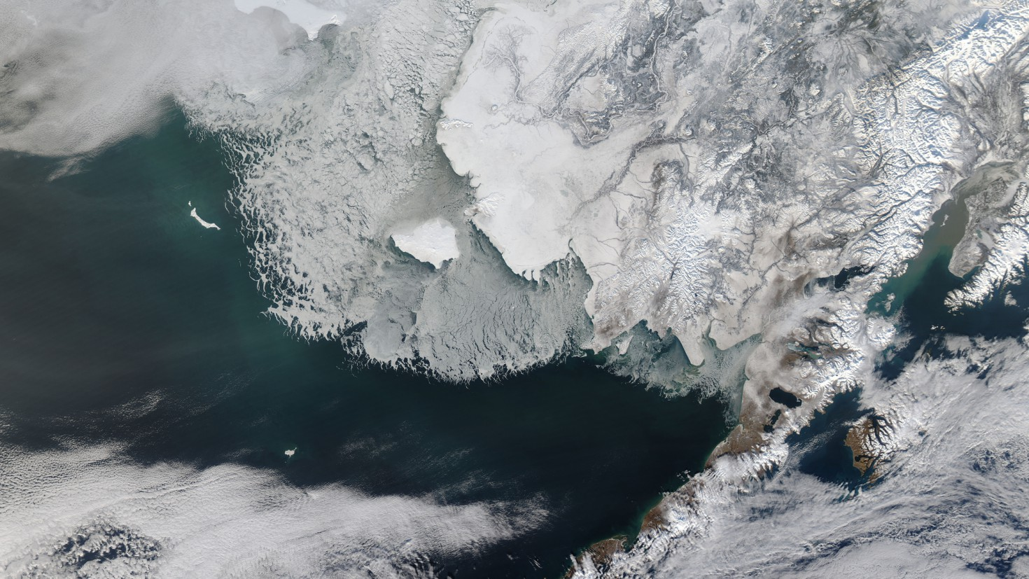 for ca. 4,5 millioner år siden var Beringstredet nord for Grønland åpent, viser ny forskning. Foto: NASA Goddard Space Flight Center @ flickr