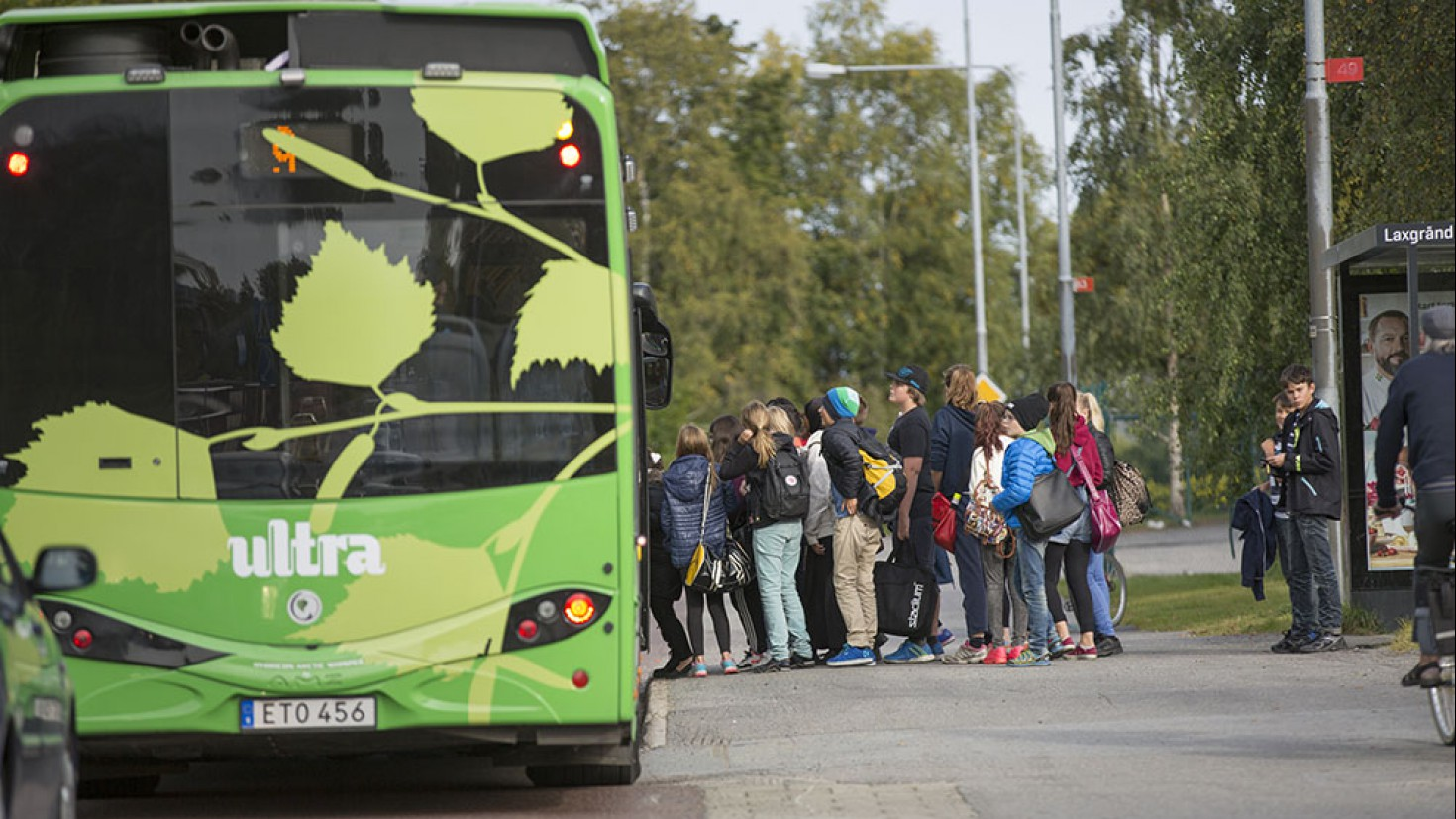 ultrafast-charging Electric buses in umeå financed by a green bond. Foto: Hybricon bus systems