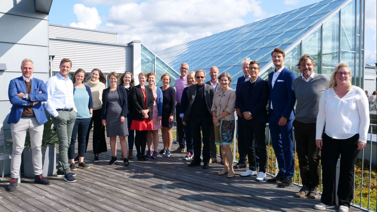 Partners in the Sustainable Edge project gathered at CICERO at the kick off for the project in August 2019. PHoto: CICERO