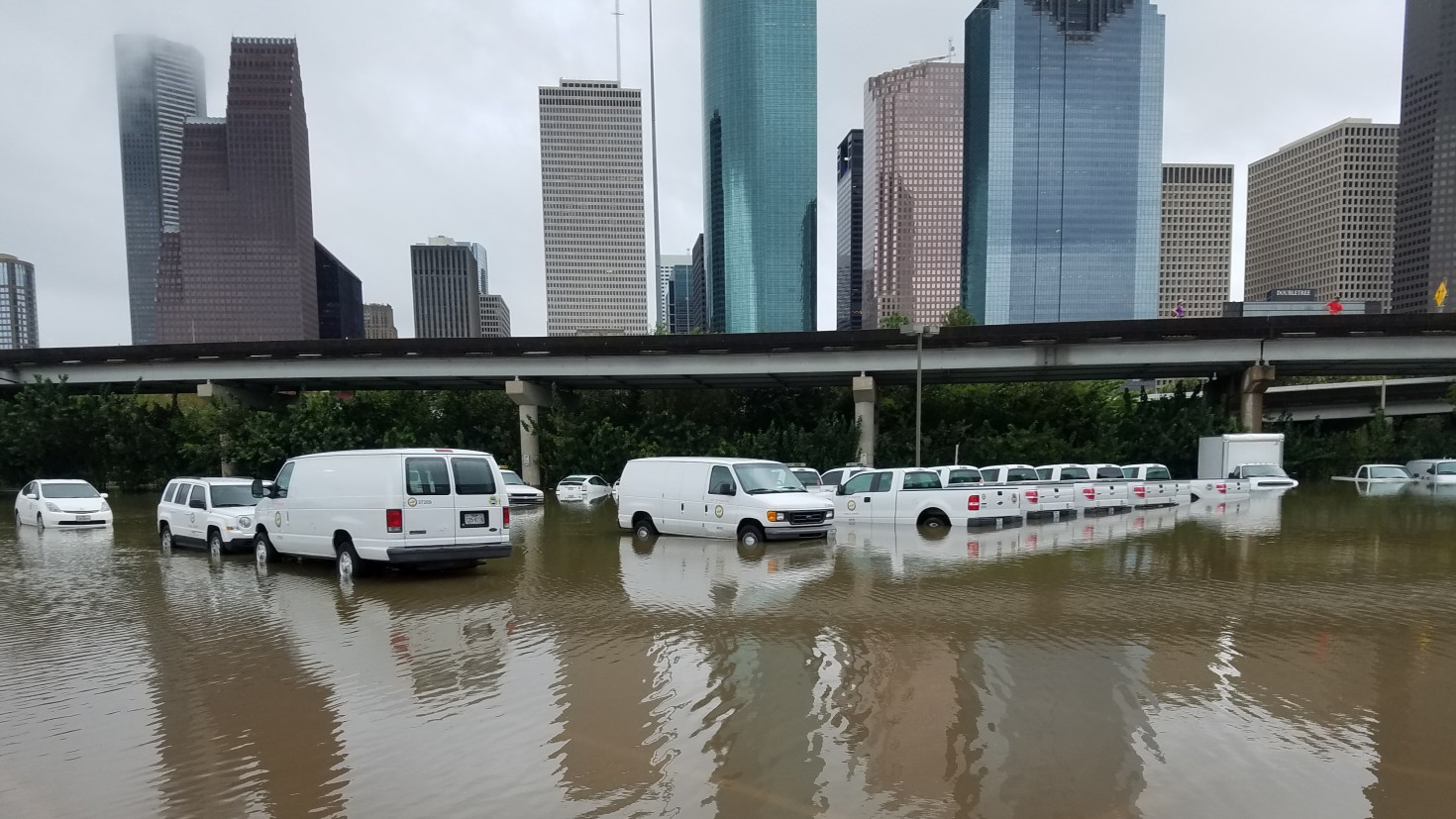 hurricane Harvey inundated big parts of houston but also caused economic losses elsewhere in the US and the world. Photo by Tom Fitzpatrick, FUGRO, via WMO on flickr